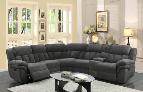 Santorini 6pc Sectional in Wesley Graphite (Mobile)